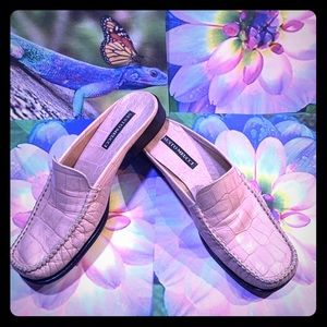 Sesto Meucci Leather Slide on Loafers Pink